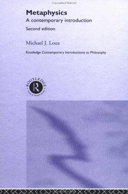 Metaphysics 9780415261067