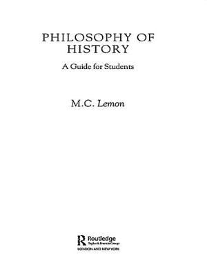 Philosophy of History 9780415162043