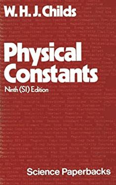 Physical Constants 9780412210501