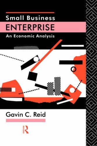 Small Business Enterprise: An Economic Analysis 9780415056816