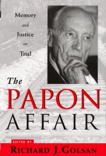 The Papon Affair: Memory and Justice on Trial 9780415923651