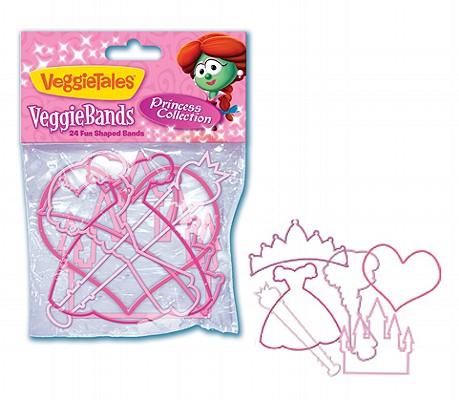 VeggieTales VeggieBands: Princess Collection: 24 Fun Shaped Bands