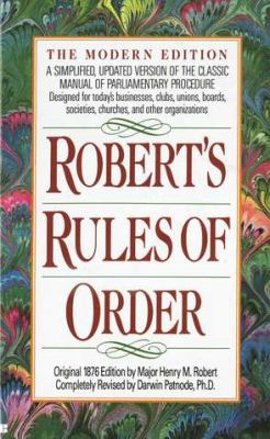 Robert's Rules of Order 9780425116906