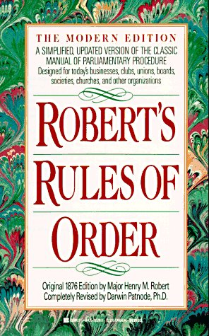 Robert's Rules of Order 9780425139288