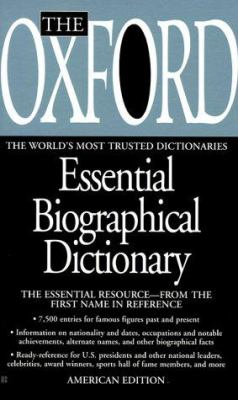 The Oxford Essential Biographical Dictionary 9780425169933