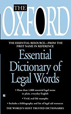 The Oxford Essential Dictionary of Legal Words 9780425197066