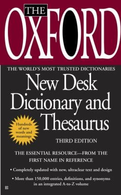 The Oxford New Desk Dictionary and Thesaurus 9780425228623