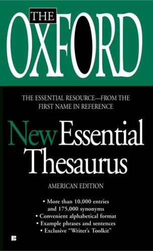 The Oxford New Essential Thesaurus 9780425222423