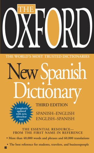 The Oxford New Spanish Dictionary: Spanish-English/English-Spanish; Espanol-Ingles/Ingles-Espanol 9780425228609