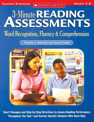 3-Minute Reading Assessments Prehension: Word Recognition, Fluency, & Comprehension 9780439650908