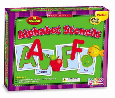 Alphabet Stencils, PreK-1: 52 Stencils [With Activity Guide and 26 Uppercase Letter & 26 Alphabet Picture Stenci] 9780439823937