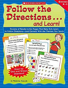 Follow the Directions...and Learn!: Grades K-1 9780439400732