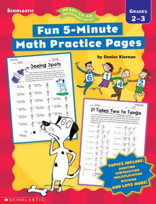 Fun 5-Minute Math Practice Pages (2-3) 9780439294676