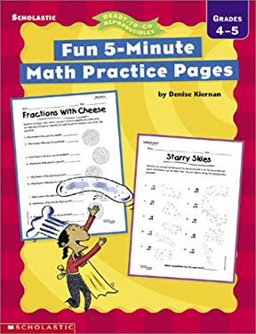 Fun 5-Minute Math Practice Pages: Grades 4-5
