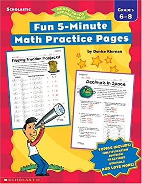 Fun 5-Minute Math Practice Pages: Grades 6-8