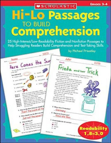 Hi-Lo Passages to Build Comprehension: Grades 3-4 9780439548878