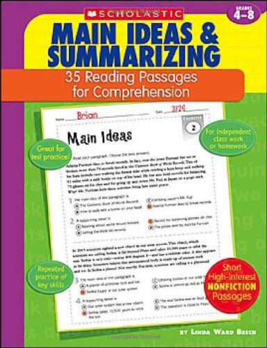 Main Ideas & Summarizing: Grades 4-8 9780439554121