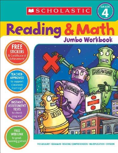 Reading & Math Jumbo Workbook: Grade 4 9780439786034