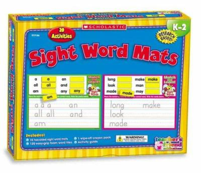 Sight Word Mats K-2: 20 Activities [With 120 Easy-Grip Foam Word Tiles, Activity Guide and 1 Wipe-Off Crayon Pack and 10 Two-Sided Sig
