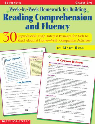 Week-By-Week Homework for Building Reading Comprehension and Fluency: Grades 3-6 9780439271646