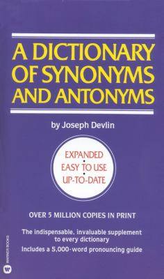 Dictionary of Synonyms & Antonyms 9780446313100