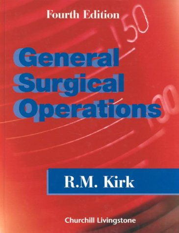 General Surgical Operations 9780443063961
