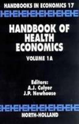 Handbook of Health Economics 9780444822901