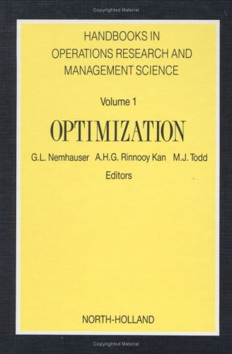 Handbooks in Operations Research and Management Science, 1: Optimization 9780444872845