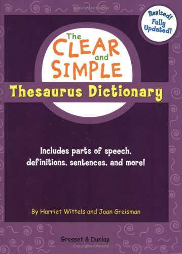 The Clear and Simple Thesaurus Dictionary 9780448443096