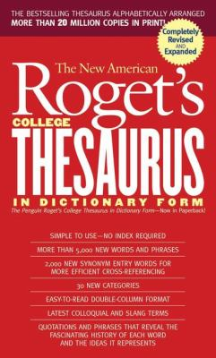 New American Roget's College Thesaurus in Dictionary Form (Revised &Updated) 9780451207166