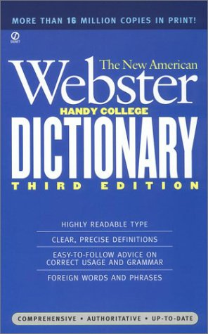 The New American Webster Handy College Dictionary 9780451181664