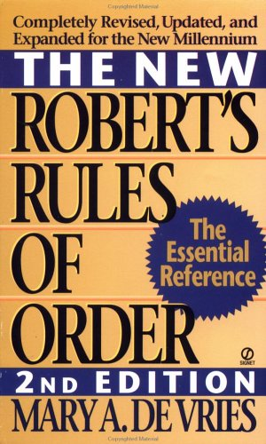 The New Robert's Rules of Order 9780451195173