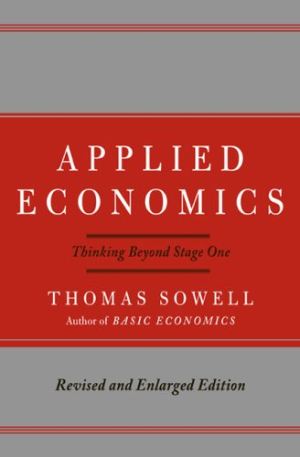 Applied Economics: Thinking Beyond Stage One 9780465003457