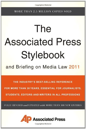 The Associated Press Stylebook and Briefing on Media Law 9780465021871