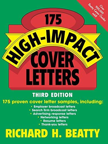 175 High-Impact Cover Letters 9780471210849