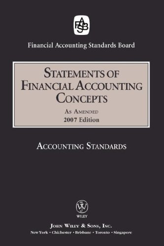 2007 FASB Statements of Financial Accounting Concepts 9780470185445