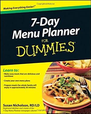 7-Day Menu Planner for Dummies 9780470878576