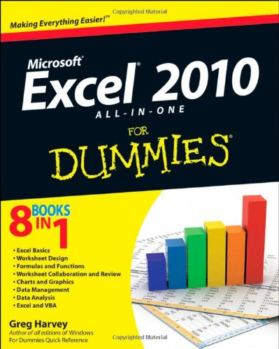 Excel 2010 All-In-One for Dummies 9780470489598