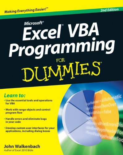 Excel VBA Programming for Dummies 9780470503690