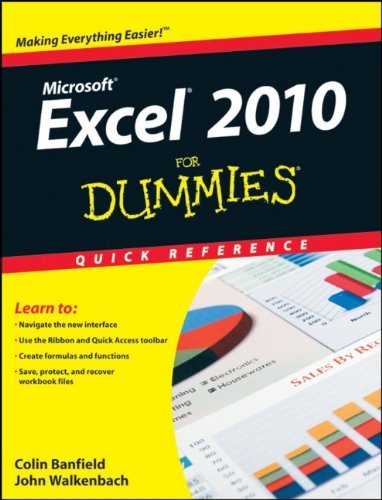 Excel 2010 for Dummies Quick Reference 9780470527559