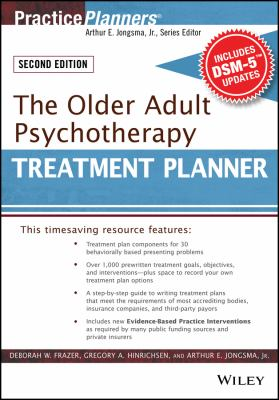 The Older Adult Psychotherapy Treatment Planner 9780470551172