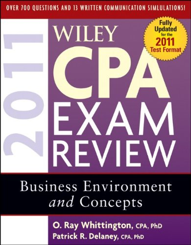 Wiley CPA Exam Review 2011, Business Environment and Concepts 9780470554357