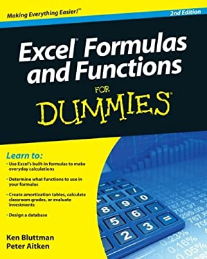 Excel Formulas and Functions for Dummies 9780470568163