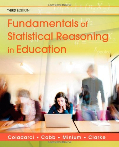 Fundamentals of Statistical Reasoning in Education [With CDROM] 9780470574799