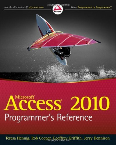 Microsoft Access 2010 Programmer's Reference 9780470591666