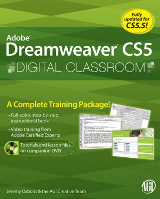 Adobe Dreamweaver CS5 Digital Classroom [With CDROM] 9780470607749
