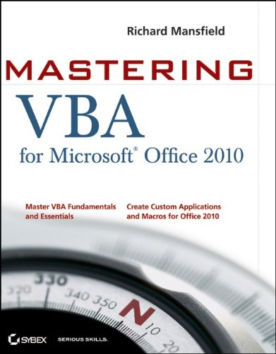 Mastering VBA for Microsoft Office 2010 9780470634004