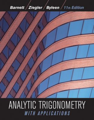Analytic Trigonometry with Applications 9780470648056