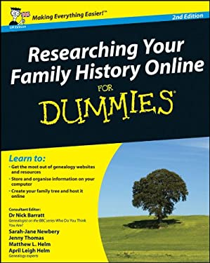 Researching Your Family History Online for Dummies 9780470745359