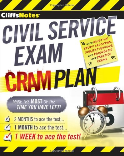 CliffsNotes Civil Service Exam Cram Plan 9780470878118